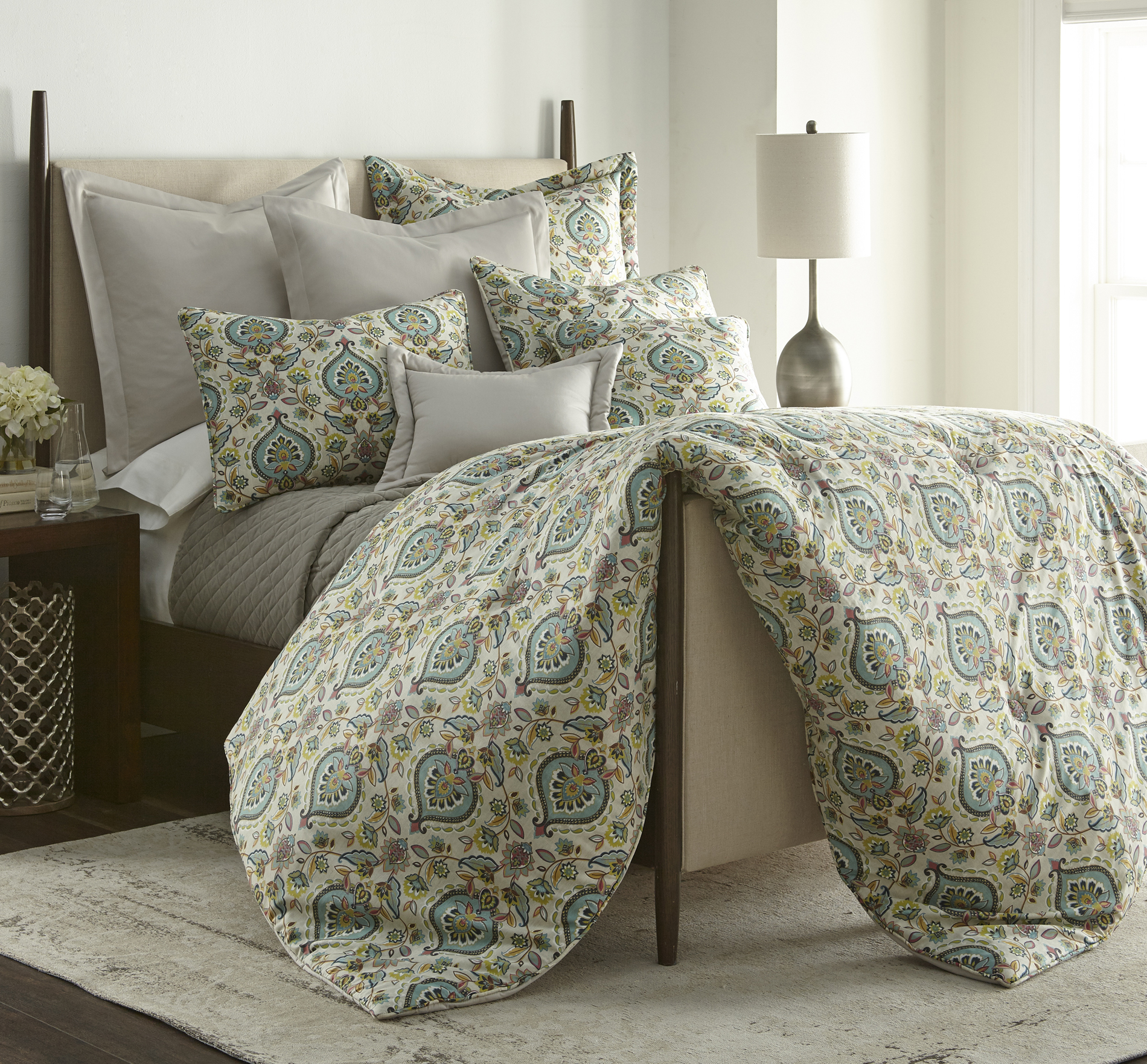Sherry Kline Splendor Icewater 3-piece Comforter Set