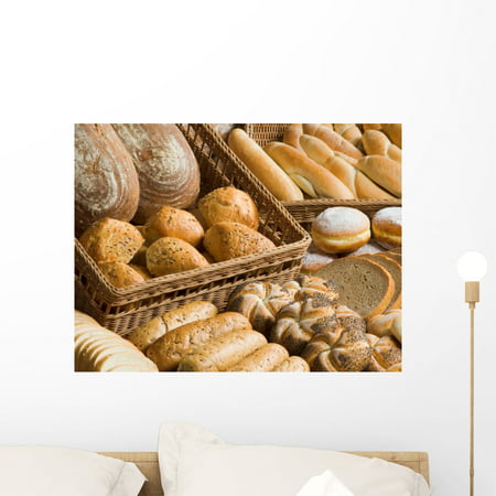 Assortment Bakery Goods Wall Mural Decal Sticker, Wallmonkeys Peel & Stick Vinyl Graphic (24 in W x 18 in H