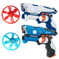 Costway Infrared Laser Tag Guns 2 Players with 2 Flying Saucers Battle Blasters Game