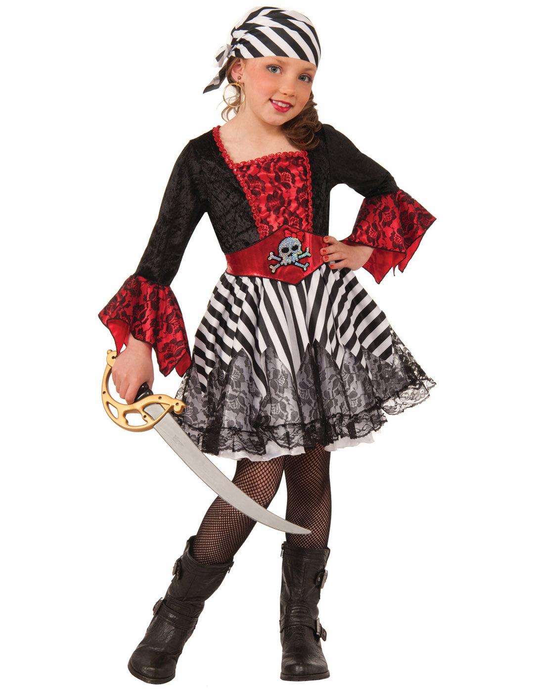 Miss Matey Girls Child Pirate Buccaneer Halloween Costume by