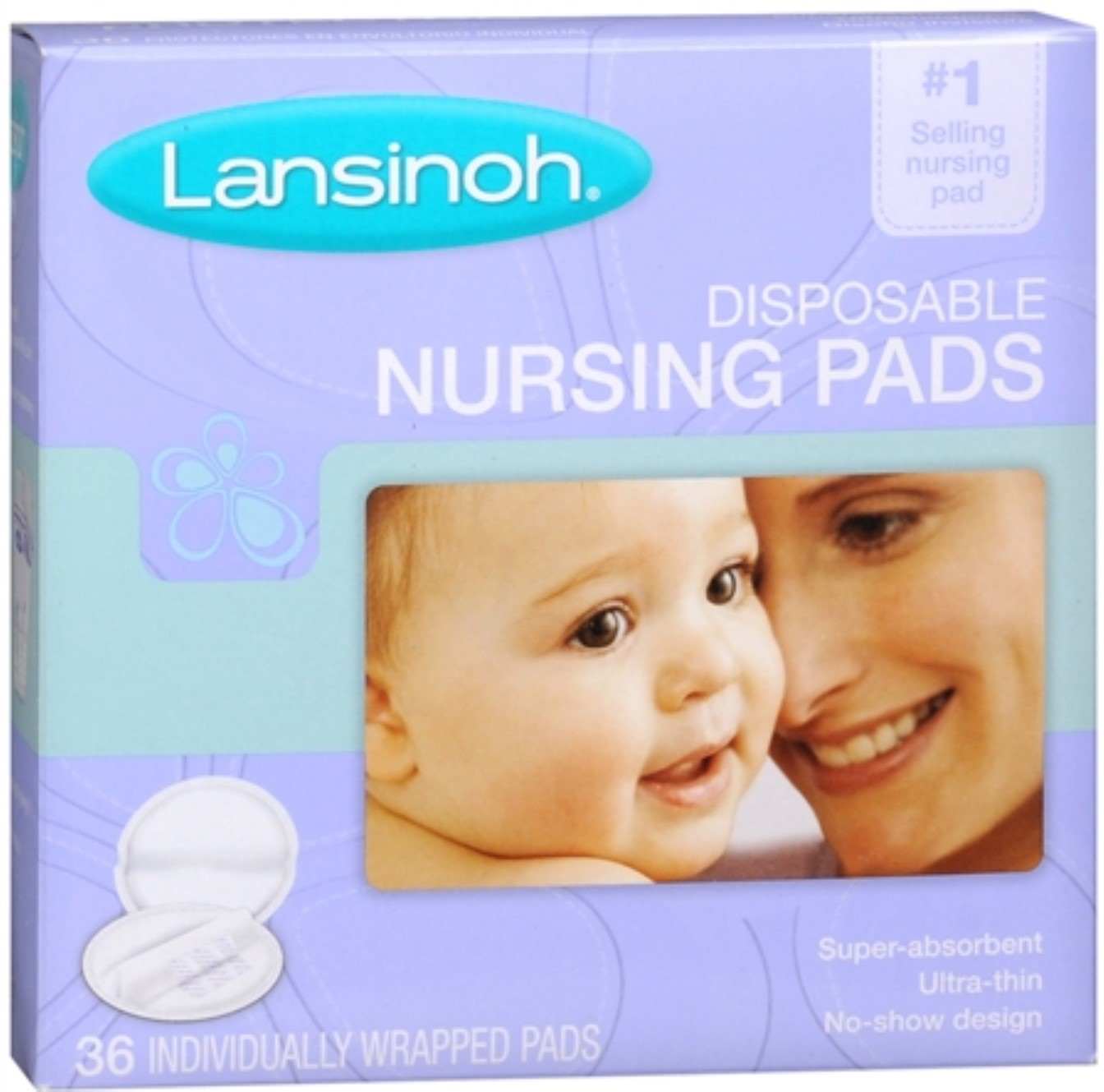 Lansinoh Nursing Pads Disposable 36 Each (Pack of 4) by Lansinoh