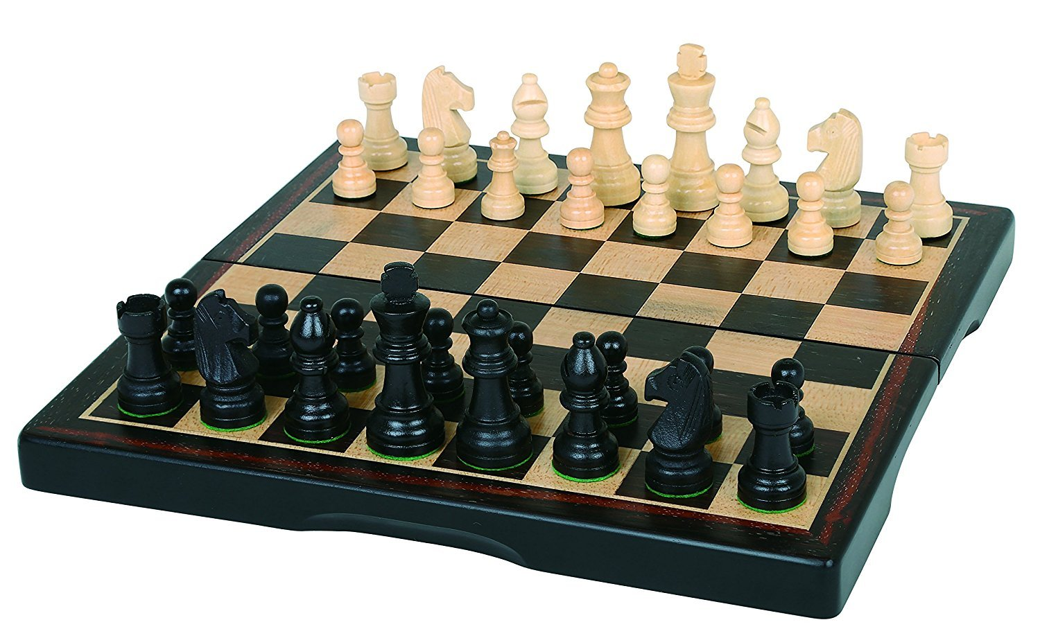 """Click here to buy 15"""" Ebony Wood Chess Set by Supplier Generic."""