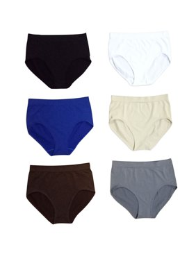 ab6be7b1b Product Image Women s 6-Pack Seamless Plus Size 2XL Only Assorted Solid  Color Briefs