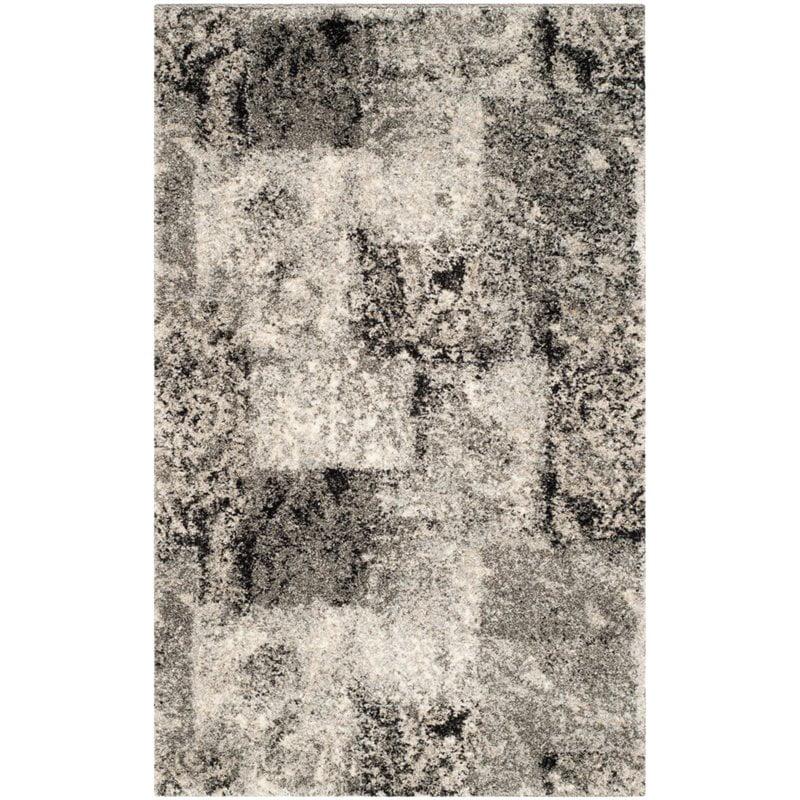 "Safavieh Retro 8'9"" X 12' Power Loomed Rug in Cream and Gray - image 10 de 10"