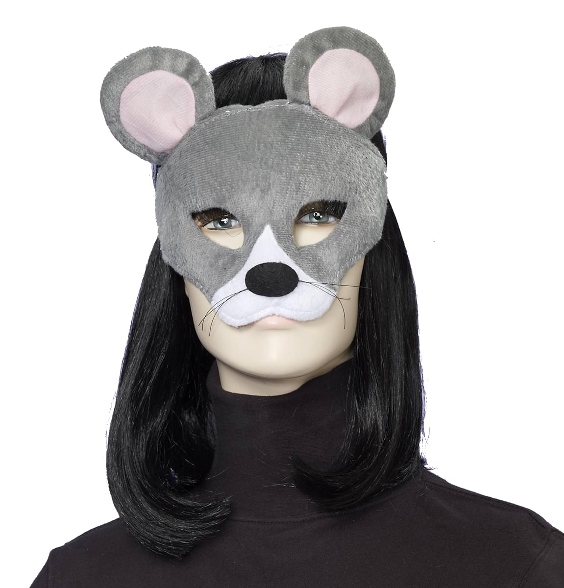 Deluxe Fuzzy Animal Mask Adult: Mouse One Size - image 1 de 1