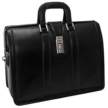McKleinUSA MORGAN 83345 Black 17 Litigator Laptop Brief - Leather Litigator Laptop Brief