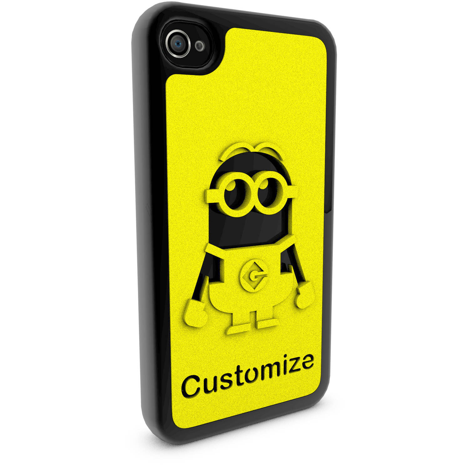 Apple iPhone 4 and 4S 3D Printed Custom Phone Case - Despicable Me - Dave 2