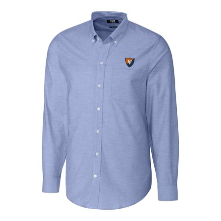 Fighting Illini Oxford (Illinois Fighting Illini Cutter & Buck Stretch Vault Logo Oxford Long Sleeve Shirt - Blue)