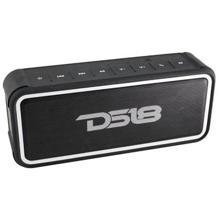 DS18 STORM-S FULLY Waterproof Portable Bluetooth Speaker 20W with Ultra HD Stereo Sound, Rich Bass, 10-Hour Playtime, Built-In Mic, Perfect Wireless Speaker for iPhone or Samsung