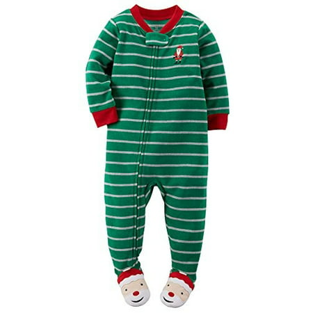 2fac872bc Carter s - Carter s Baby Boys  Holiday Microfleece One Piece Footed ...