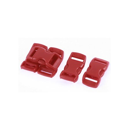 Luggage Boxes Backpack Dark Red Plastic Side Quick Release Buckle 11mm Band - Side Release Bin