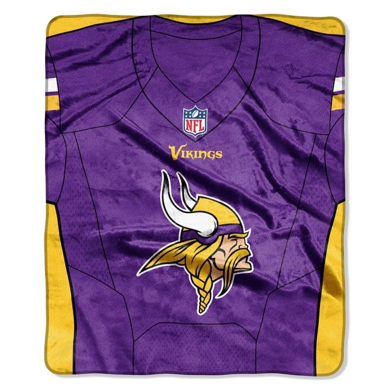 "Minnesota Vikings The Northwest Company 50"" X 60"" Jersey Plush Blanket - No Size"