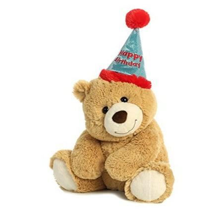 aurora world plush bear, happy birthday