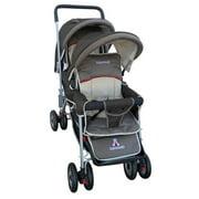 AmorosO 43230 Brown Deluxe Double Stroller