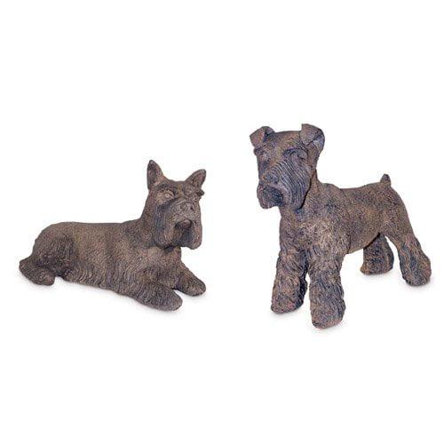 Dog Days Set of 2 Schnauzers Garden Statue