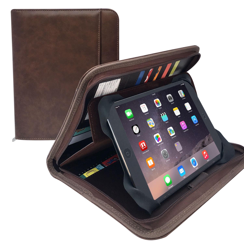 Black Handle Business Padfolio Portfolio Case SKOLOO Zippered Padfolio Portfolio Kit with 4-Hole Binder