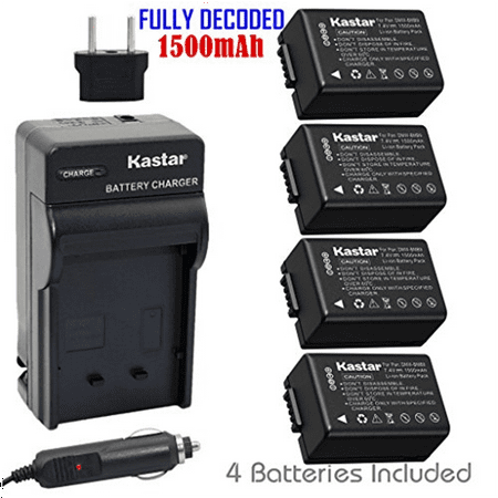 Kastar DMW-BMB9 Battery (4-Pack) and Charger Kit for Pana...