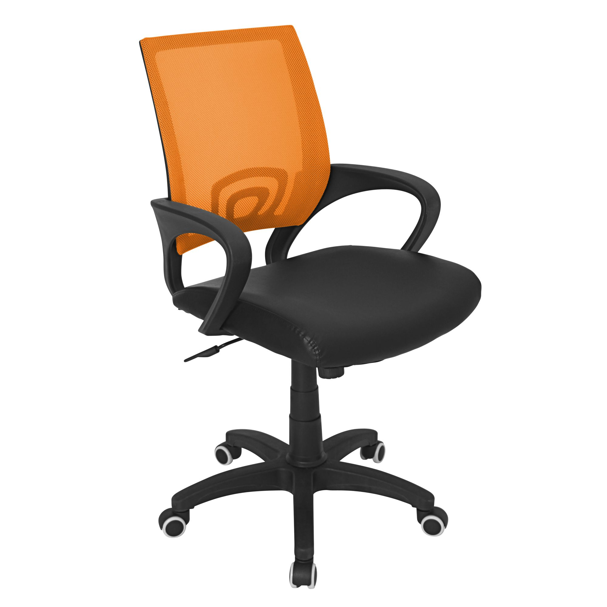 Officer Modern Adjustable Office Chair with Swivel in Orange by LumiSource