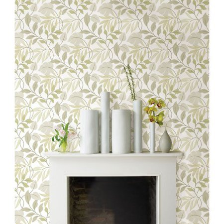 Brewster neutral meadow peel and stick wallpaper for Peel and stick wallpaper walmart