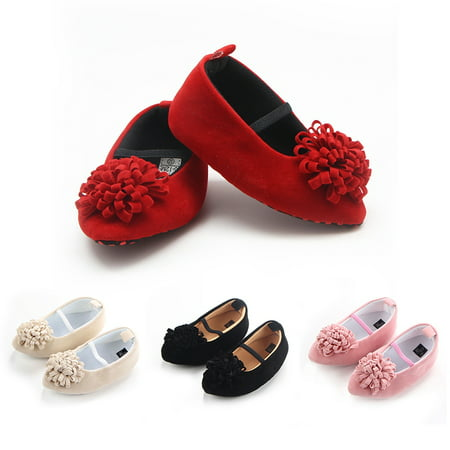 Kacakid Newborn Baby Girls Princess First Walkers Pointed Toe Shoes Wedding Party Dress Flat Shoes](Girl Flats Shoes)