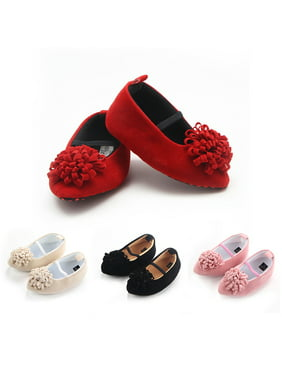 f446f7aa4 Product Image Kacakid Newborn Baby Girls Princess First Walkers Pointed Toe  Shoes Wedding Party Dress Flat Shoes