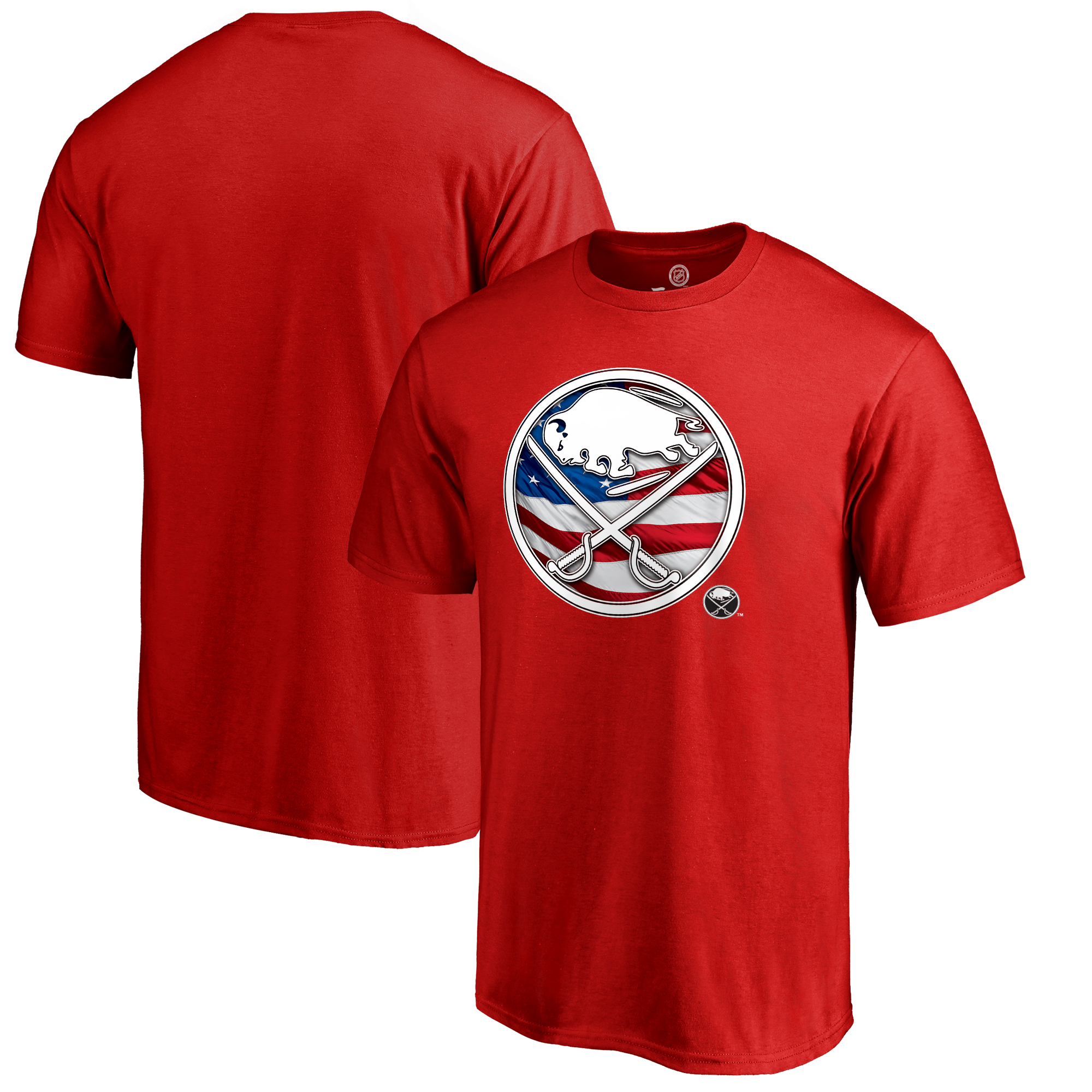 Buffalo Sabres Fanatics Branded Youth Banner Wave T-Shirt - Red
