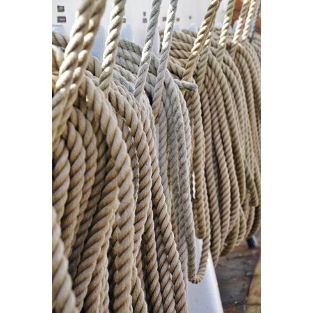 Glass 14' Strand - Canvas Print Knitting Ropes Twisted Ropes Cordage Strand Thaw Stretched Canvas 10 x 14