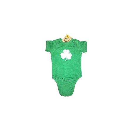 Screen Printed Shamrock Baby Bodysuit 6m 12m 18m 24m Irish Green (24m)