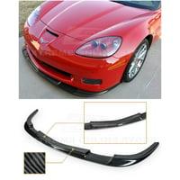 Extreme Online Store for 2005-2013 Chevrolet Corvette C6 Wide Body Models | ZR1 Style Front Bumper Lower Lip Splitter (ABS Plastic - Hydro-Dipped Carbon Fiber)