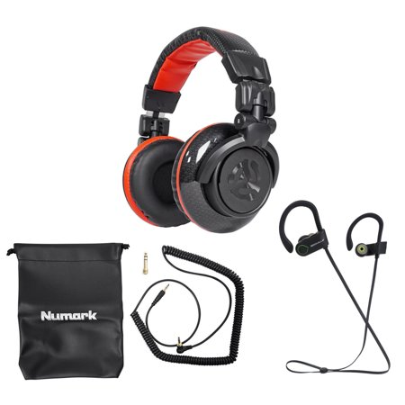 Numark Red Wave Carbon Pro Full-Range Mixing DJ Headphones+Pouch