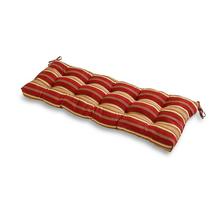 Roma Stripe 51 x 18 in. Outdoor Bench Cushion 54' Outdoor Bench Cushion