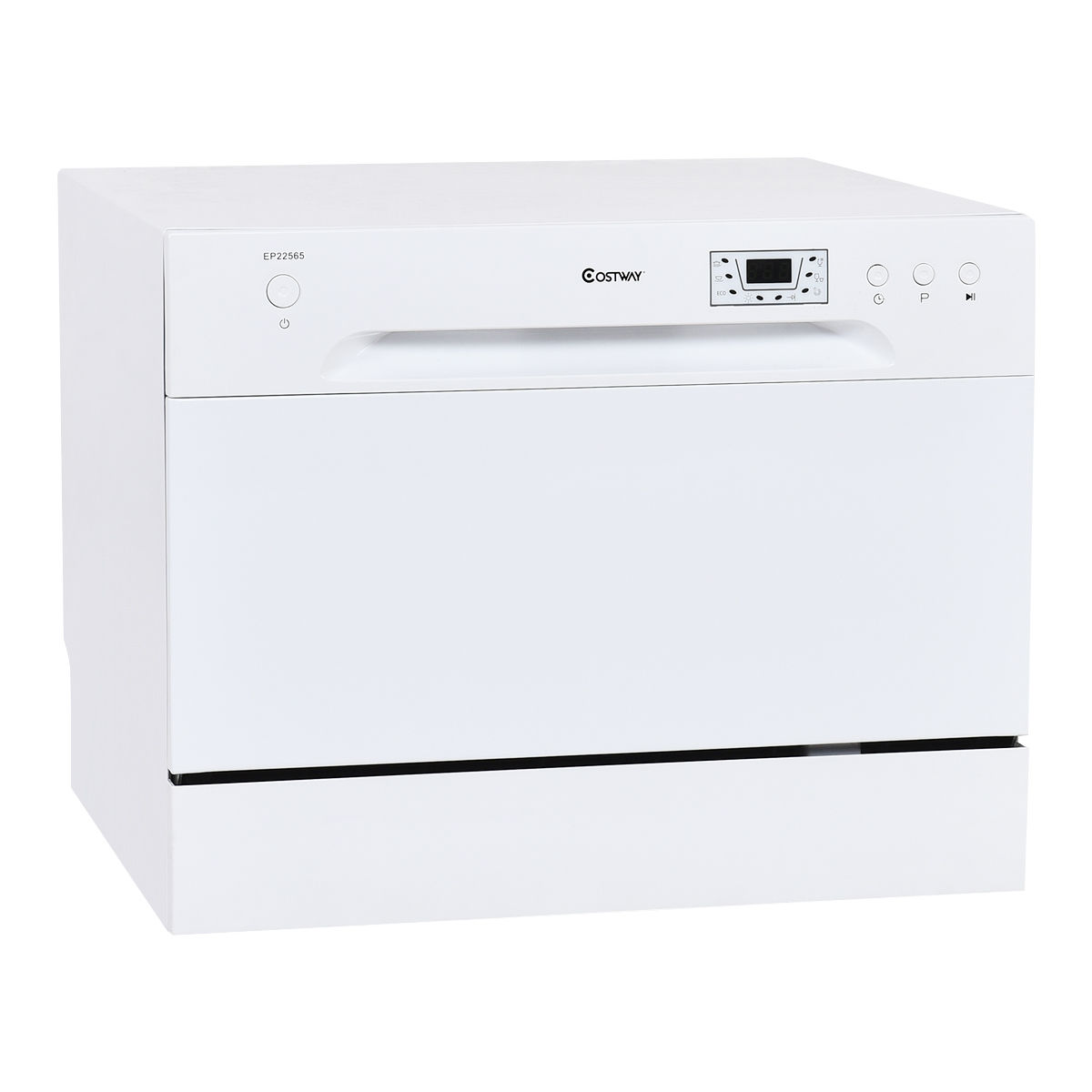Costway Countertop Dishwasher Portable Compact Tabletop Kitchen Stainless  Steel White