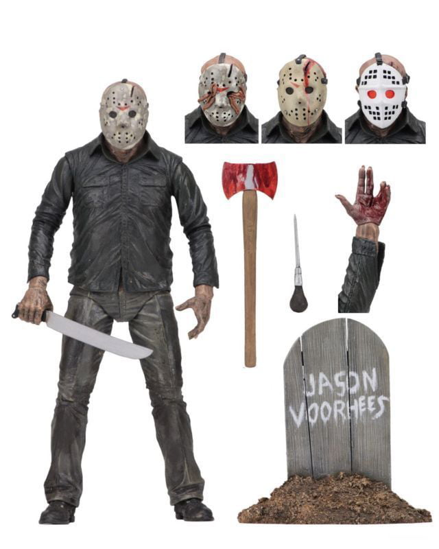"""Friday the 13th Part IV 3D JASON VOORHEES Scale Ultimate Action Figure 7/"""""""
