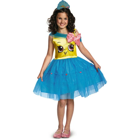 Shopkins Girls' Cupcake Queen Classic Child Costume - Cave Girl Costume For Kids