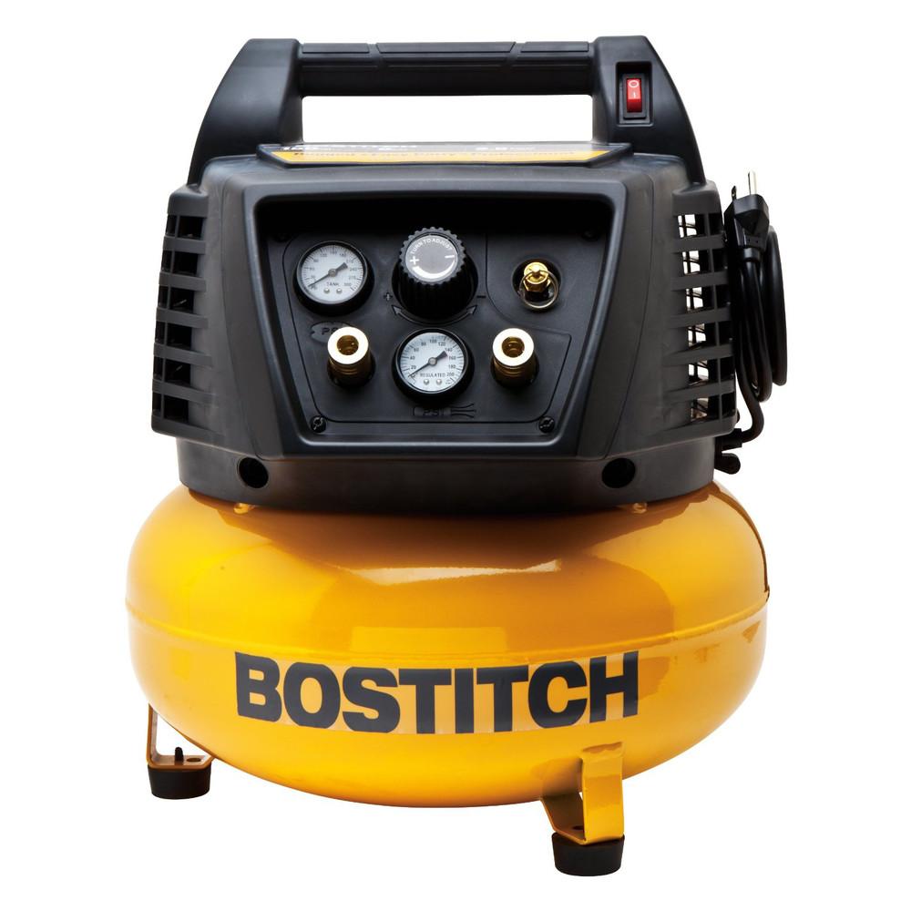 Bostitch BTFP02011 6 Gallon Oil-Free Pancake Air Compressor
