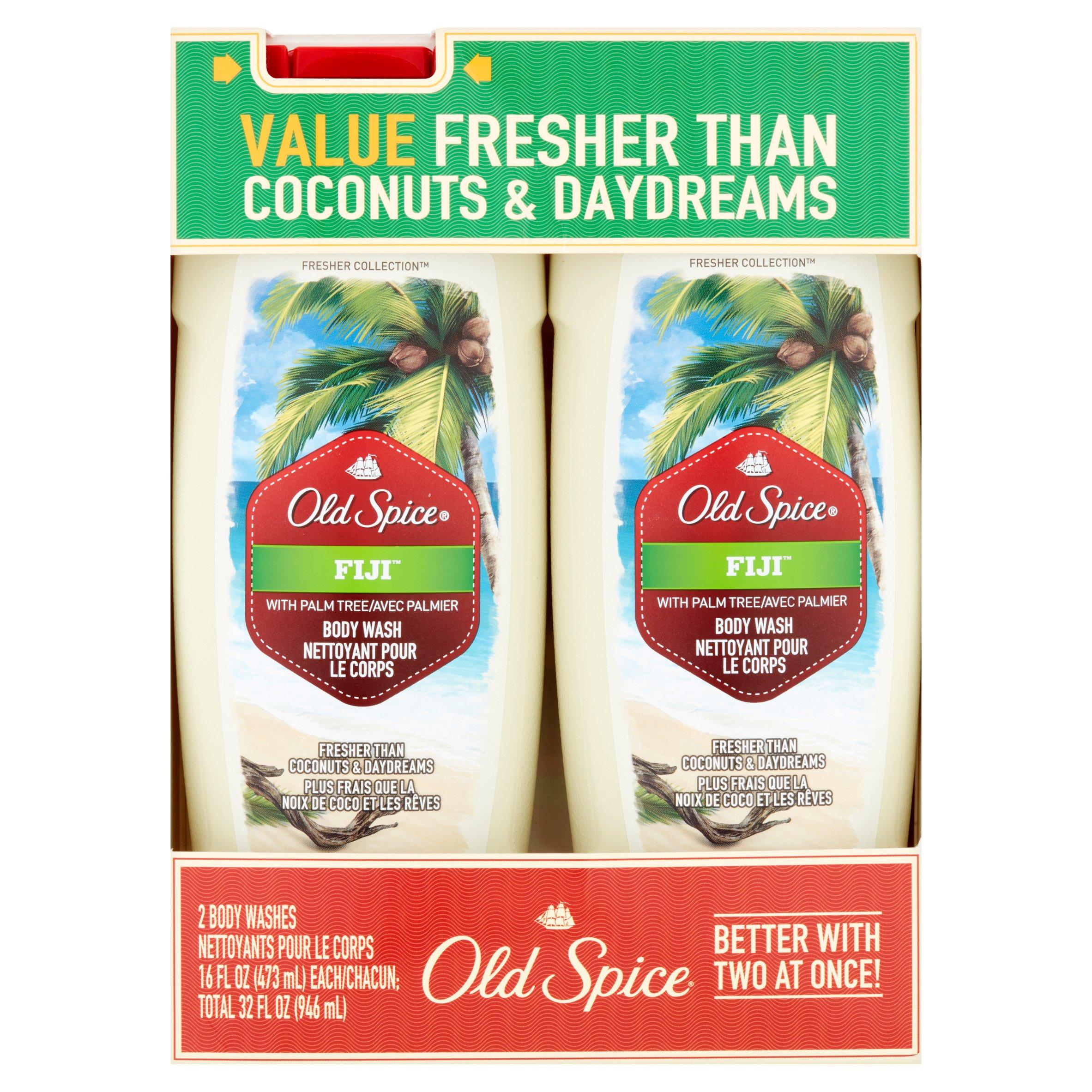 Old Spice Fiji Body Wash, 16 fl oz, 2 count