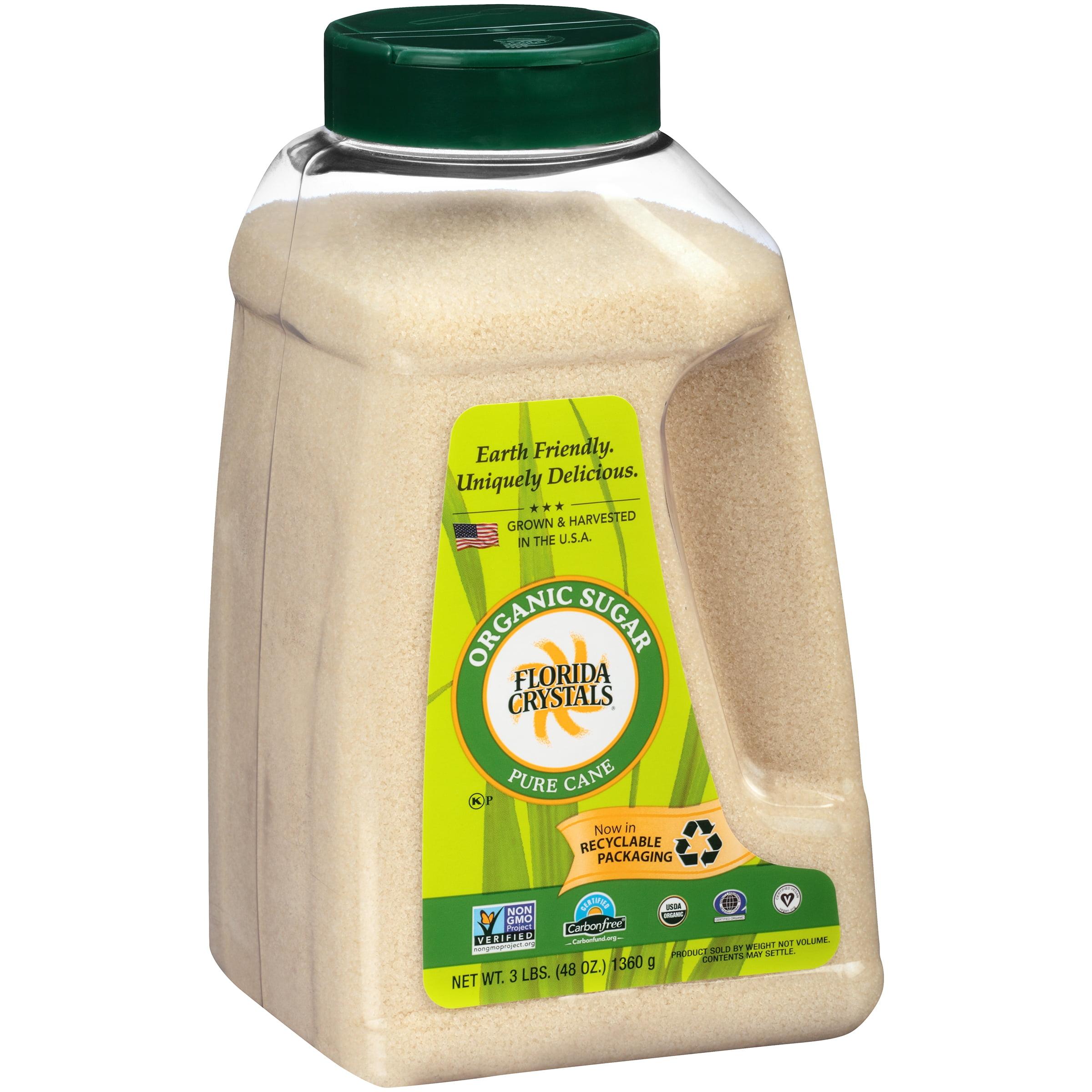 Florida Crystal's Organic Cane Sugar 48 Oz Shaker