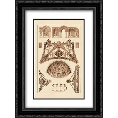 (Cross Vaults of the Renaissance 2x Matted 18x24 Black Ornate Framed Art Print by Buhlmann, J.)