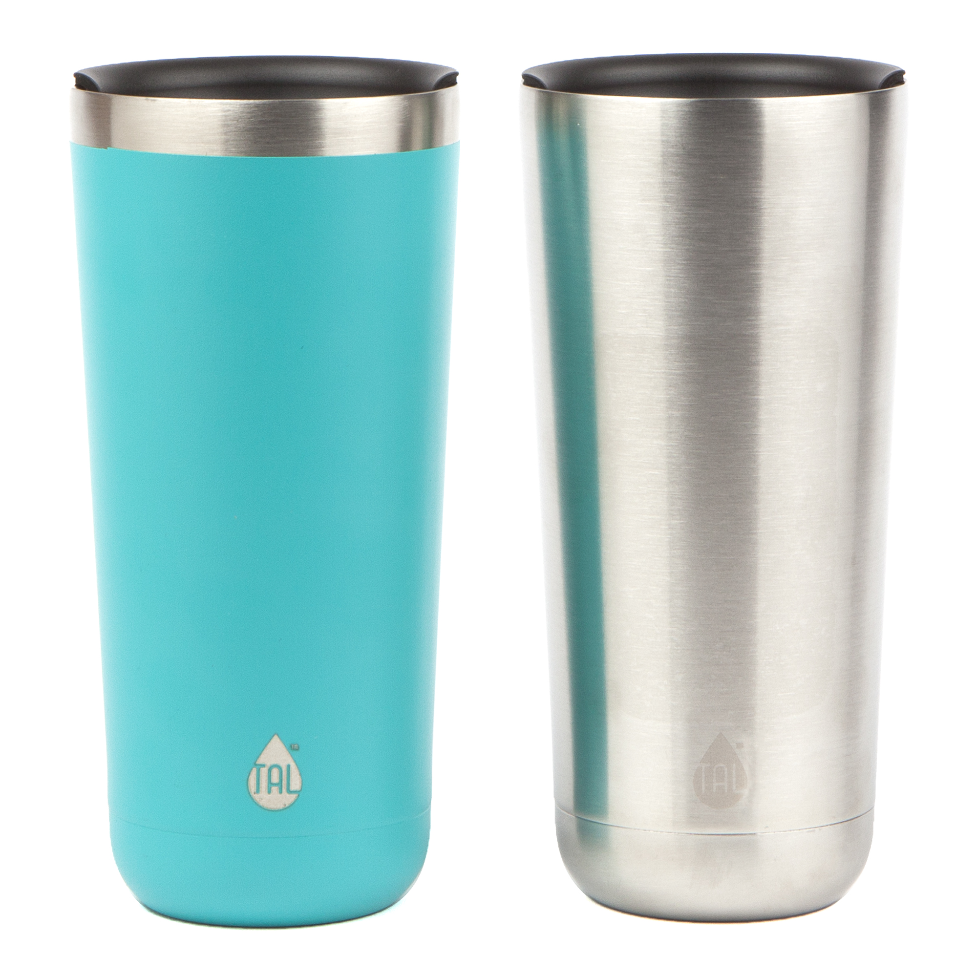 TAL 2 Pack 22oz Teal Stainless Steel Double Wall Vacuum Insulated Ranger™ Tumbler