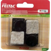 """Madico 13/16"""" Angled Square Black Fused Felt Insertion Glides Floor Savers"""