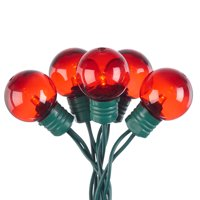 Holiday Time 57 ft, 100 Count Red LED Super Bright String Christmas Lights