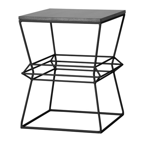 Emissary Home and Garden Vector Metal/Granite Accent Stool