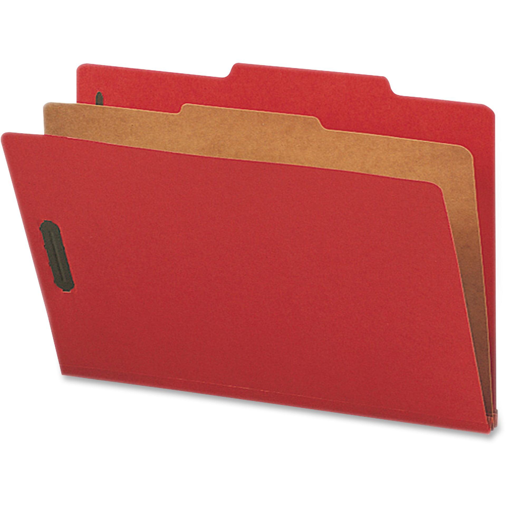 Nature Saver, NATSP17220, 1-Divider Color Classification Folders, 10 / Box, Bright Red