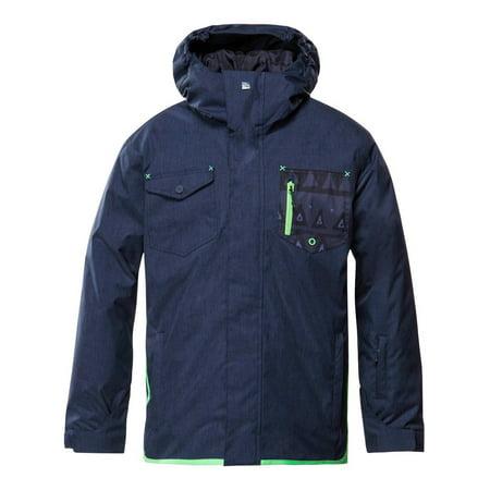 Quiksilver Boys Versus 1K Snow Jacket Navy Blue Size Large 14