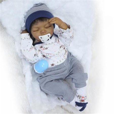 Reborn Baby Doll Soft Silicone 22inch 55cm Magnetic Lovely Lifelike Cute Lovely Baby Sleep Baby India dolls (Cute Doll Halloween Makeup)