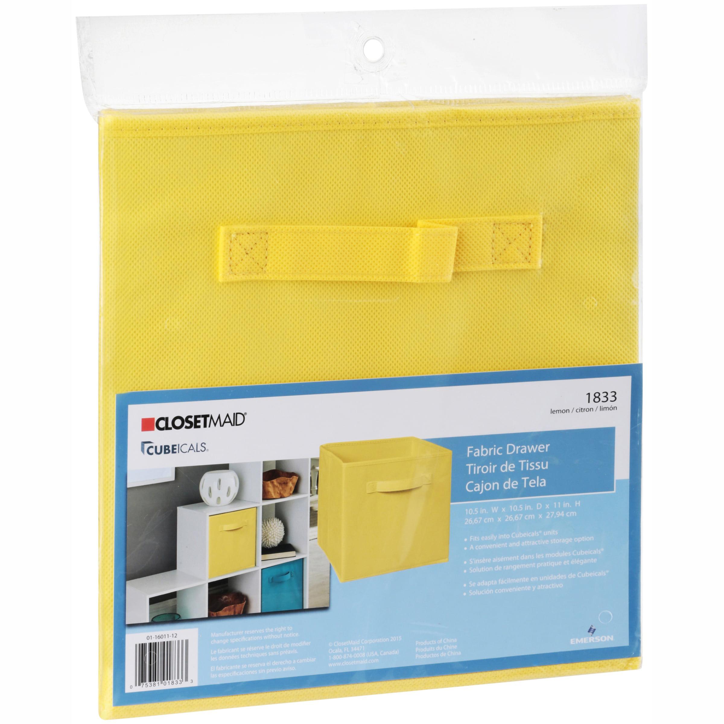 Closetmaid Cubeicals Lemon Fabric Drawer Walmart Com