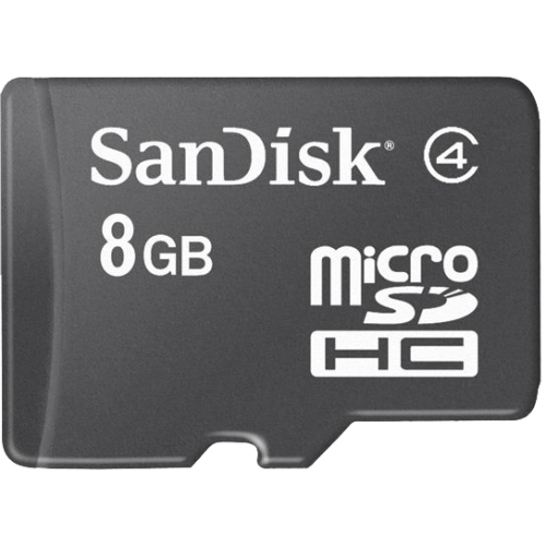 SanDisk SDSDQ008GA46AM microSDHC 8GB Memory Card with SD Adapter