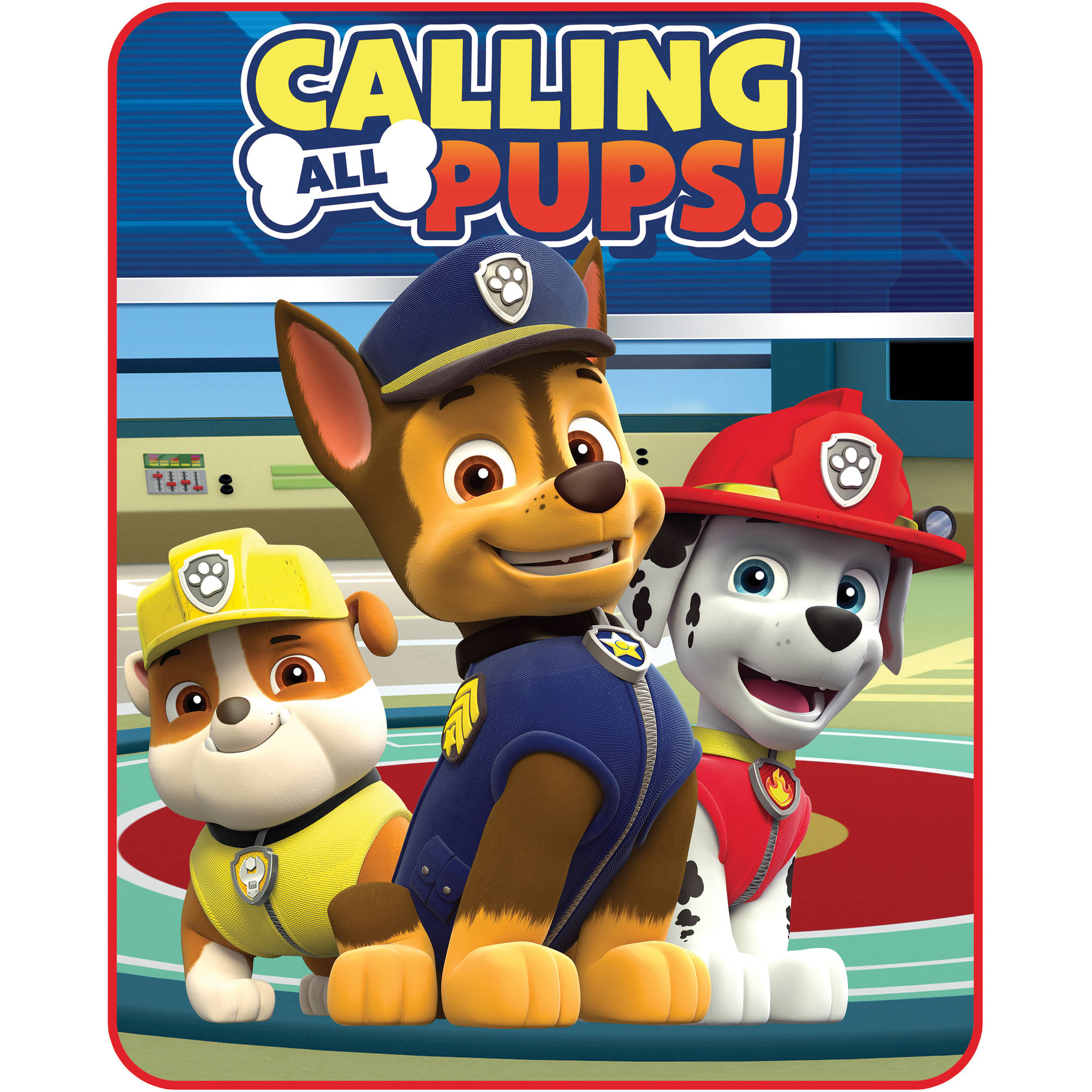Nickelodeon Paw Patrol Calling All Pups Silk-Touch Throw