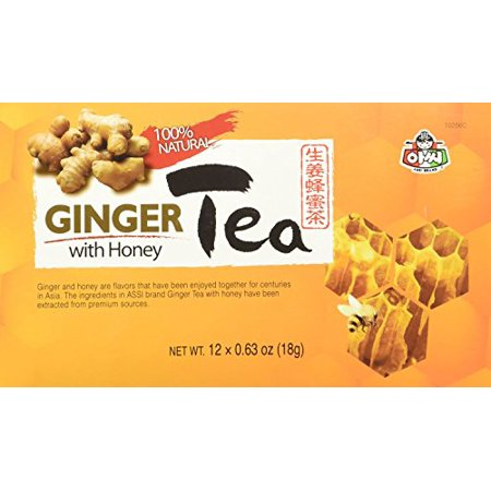 Instant Ginger Tea with Honey 12 bags x 0.63oz (2 (West Indian Select Instant Honey Ginger Tea)