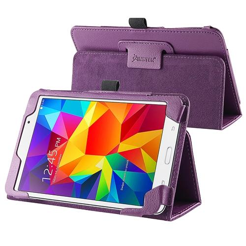 Insten Purple Leather Tablet Case Cover with Stand For Samsung Galaxy Tab 4 7.0 SM-T230 Tab4 7-Inch 7""